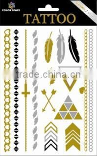 2015 fashion gold temporary tattoos