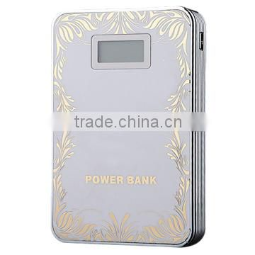 Portable & Rechargeable Power bank 8000mAh external battery power charger with LCD screen to show power status