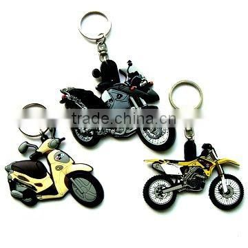 3D cute girl soft pvc keychain