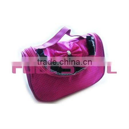 Professional cosmetic bag with mirror