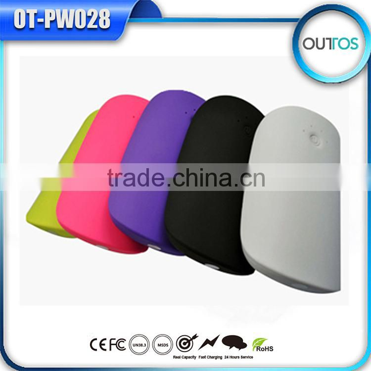 Mobile Accessories Coloful Pillow Shape Power Bank For Smartphone