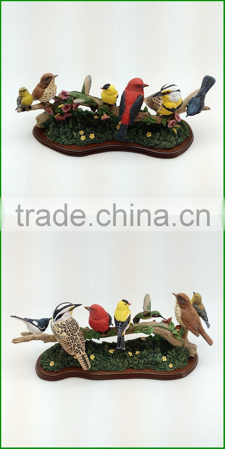 Custom resin miniature canary birds for sale