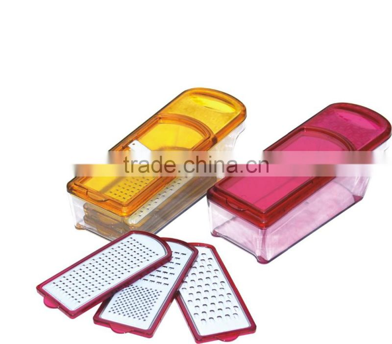 Plastic cheese grater with bowl