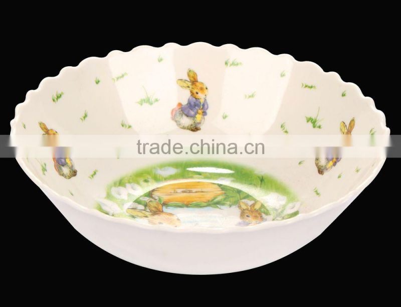 Food grade two tone melamine bowl with LFGB certification