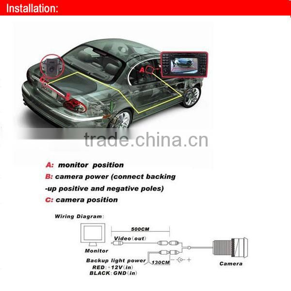 rearview special car camera for AUDI tailgale handle