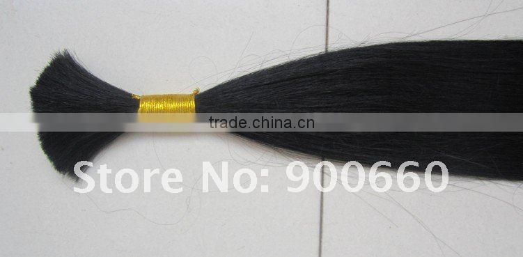 virgin single drawn human hair extension/ virgin hair/remy hair/human hair braids