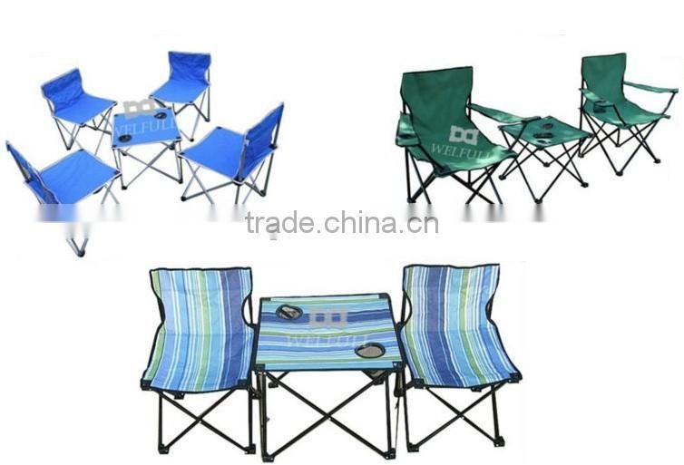 Camouflage camping small foldable dinning table and 4 chairs