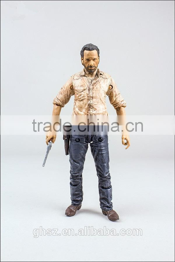 Guo hao hot sale wholesale resin walking dead action figure , Rick character of the walking dead action figure
