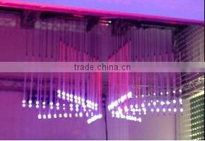 disco decorations dmx 3d tube led hanging vertical tube light