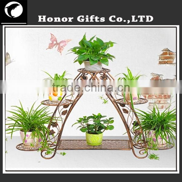Wrought Iron Tiered Designer Plant Stand