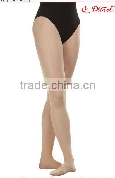 D004815 Dttrol nylon feet tube pantyhose dancing child tights pantyhose dress with plain waist and no crotch
