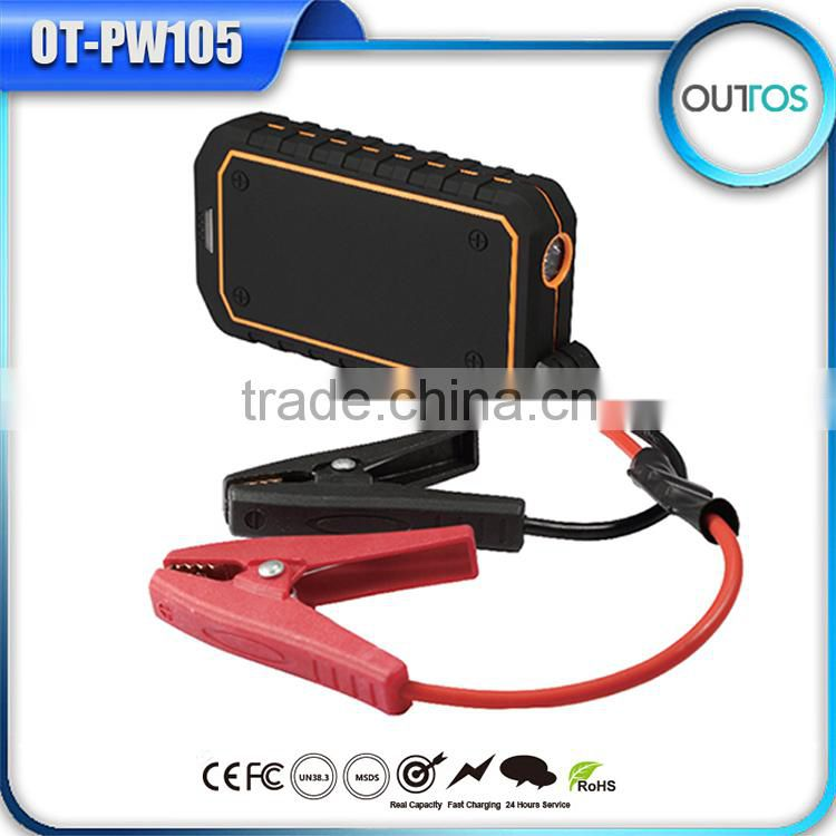 Waterproof Emergency 12v car jump starter power bank 10000mah