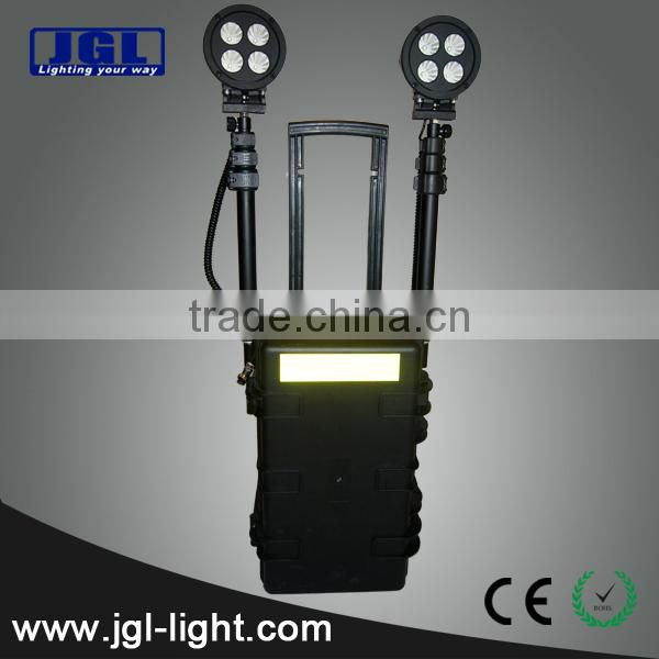 Guangzhou portable power source ems police equipment RLS-72w portable led remote area lighting system military police equipment