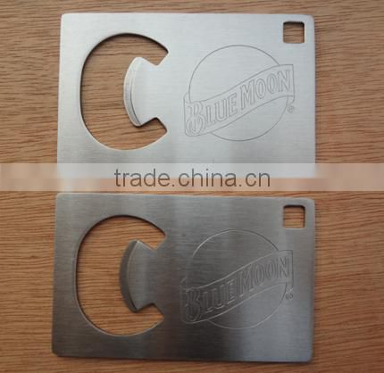 Low price stainless steel credit card business card beer botttle opener