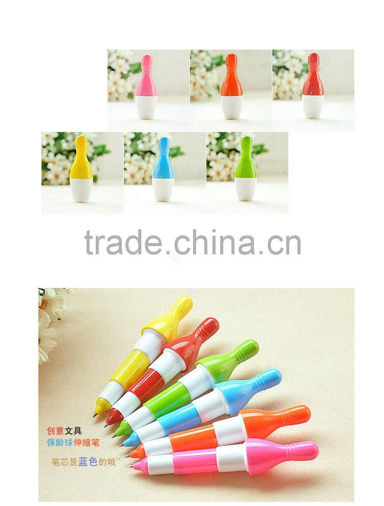cheap plastic bowling ball pen for promotion
