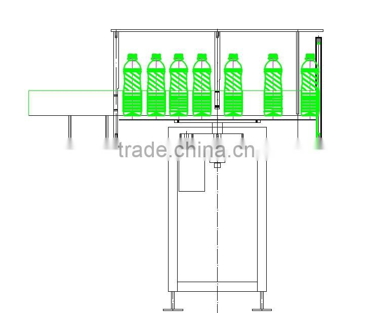 Semi-automatic turn table for bottle arranging