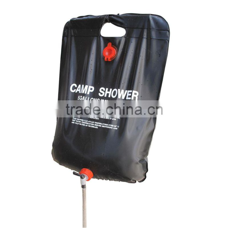 Solar powered outdoor camping garden shower