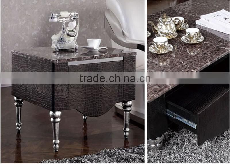 high quality stainless steel legs MDF storage cabinets corner tables for living room furniture