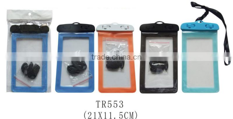 Clear PVC Waterproof Bag for Mobile or Camera