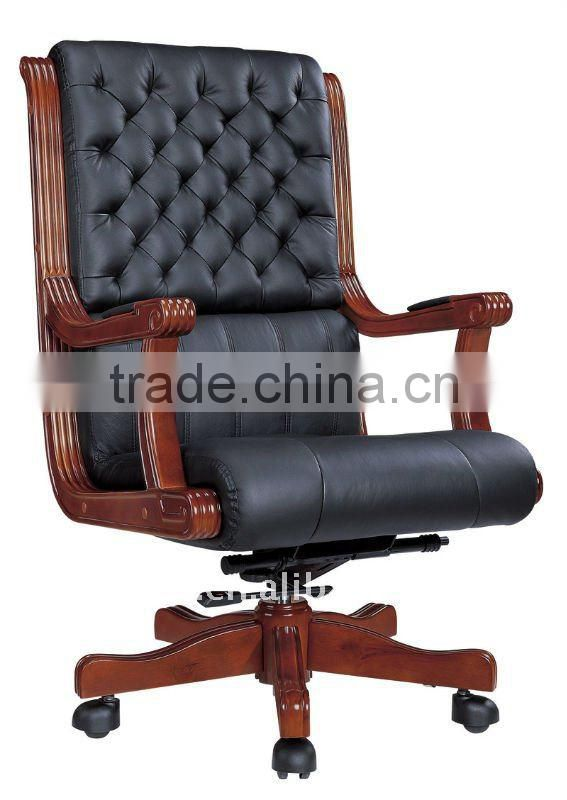 Antique Wood Office Chair Manager Chair office leather executive chair