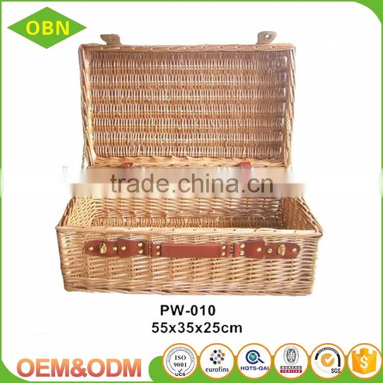 Custom Large Cube Sundries Wicker Storage Basket with Lid
