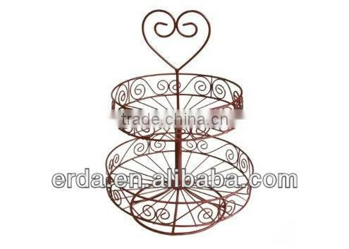 Metal 2-Tiered Scroll Design Display Rack