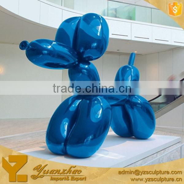 large stainless steel balloon dog sculpture for sale