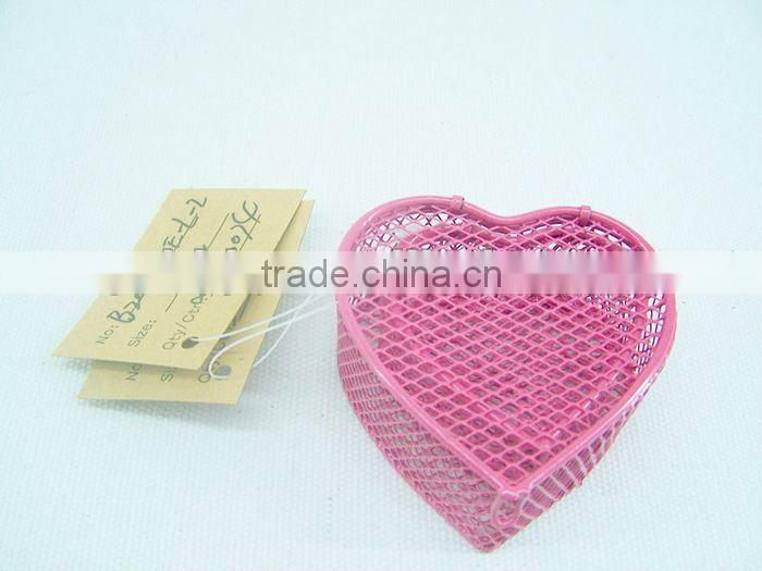 Heart Metal chocolate gift packing box for wholesale