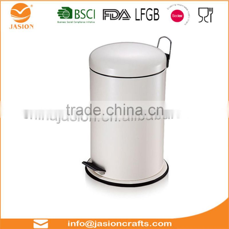 3 Litre Pedal Trash Bin White Foot Pedal Bin with Lid For Easy Opening Closing Dustbin