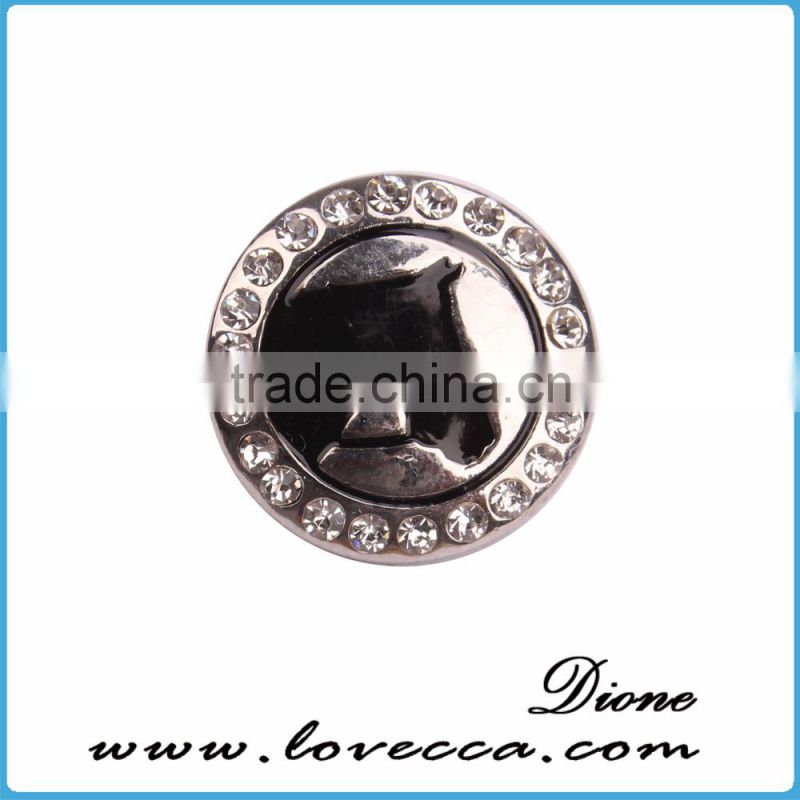 Fashion jewelry wholesale rhinestone pearl snap button