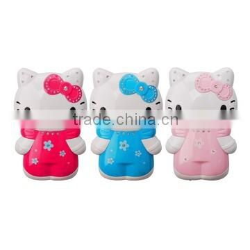 Shenzhen factory hot sale portable mini cute 8400mAh Hello Kitty Power Bank