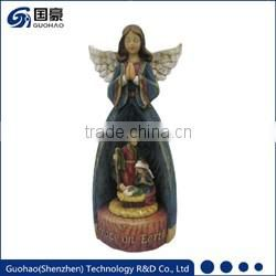 Mary mother of baby jesus statue
