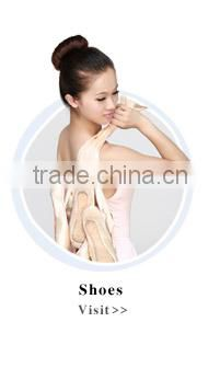 D004703 Wholesale pink split straight sole leather ballet slippers flat ballerina shoe with cross bands for kids and adults