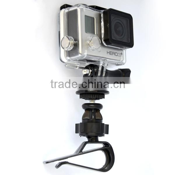 360 Degree Rotational Adapter Holder Clamp Clip Automobile Data Recorder Mount For Gopro Hero 4/3+/3/2/1