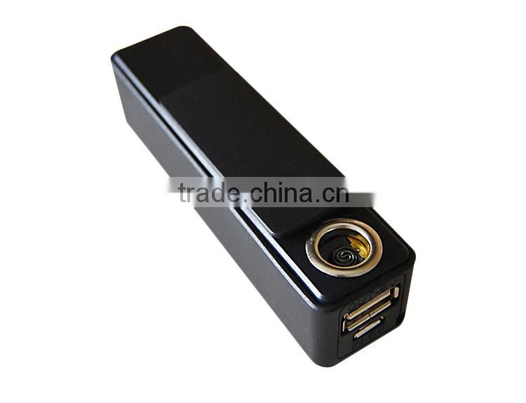 2200mAh Portable Keychain Power Bank With Cigarette Lighter For Smokers