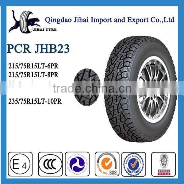 passenger car tires 215/75R15LT with china manufacture