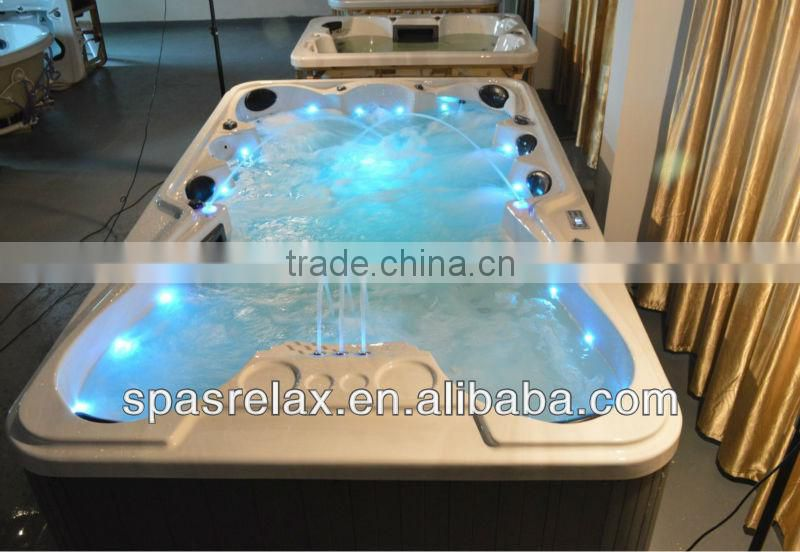2014 High Quality Large Outdoor Hottub/Spa Massage Bathtub for 9-10 Person