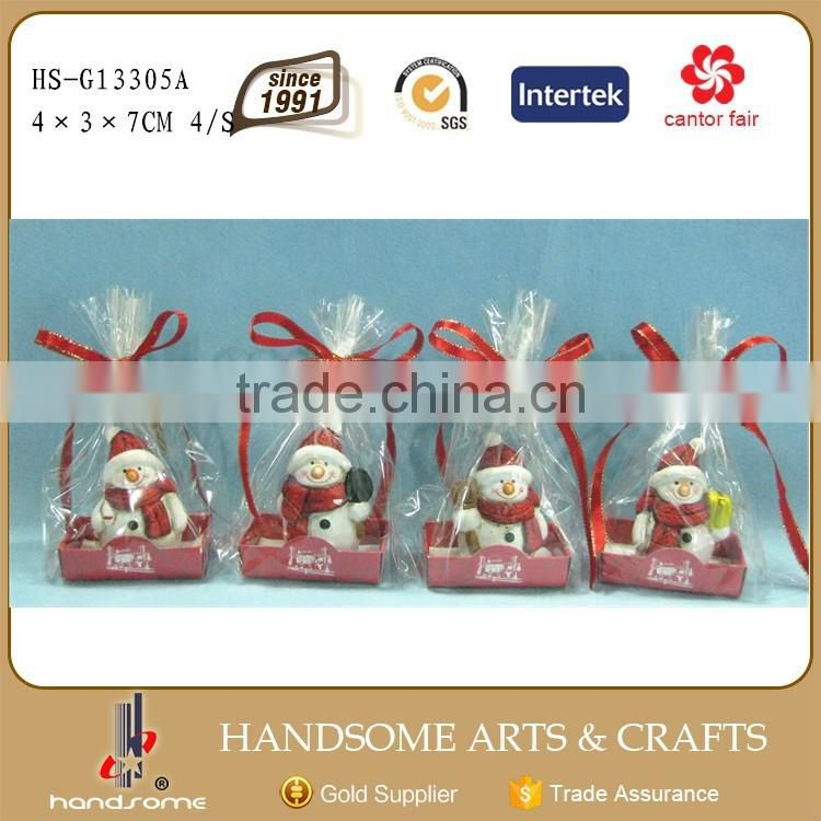 Handmade chinese Christmas Ornament Snowman