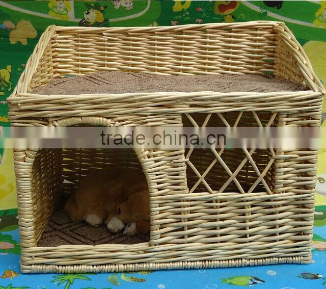 Wholesale large wicker rattan pet dog design bed dog house