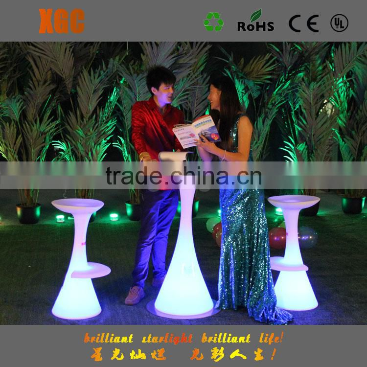 Light up colored plastic wedding rental events furniture with RGB led