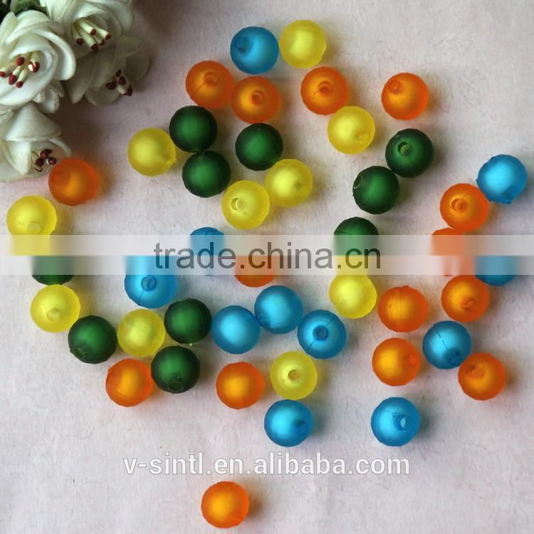 Hot Sale DIY 14mm Colorful Round Plastic Rubber Beads for Jewelry Making