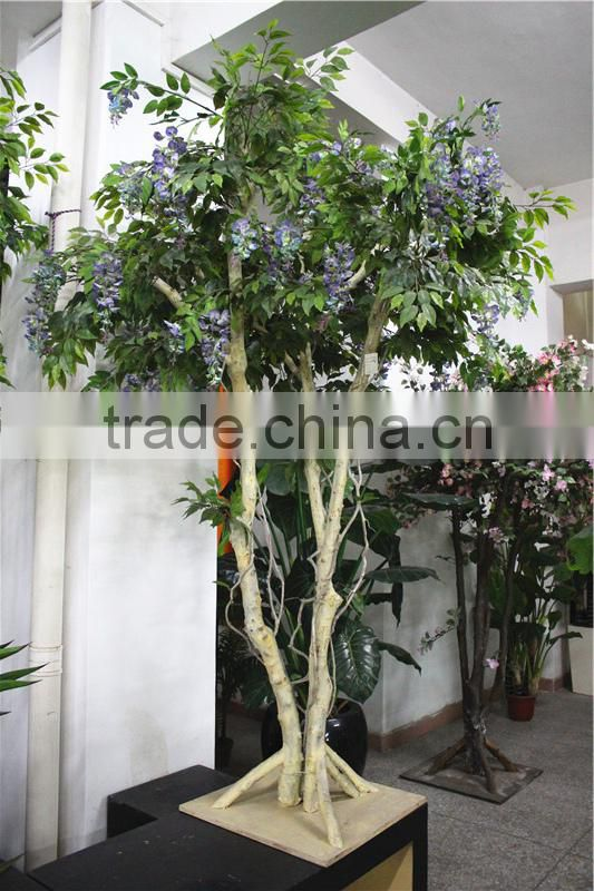 Home garden deco 50cm to 400 cm hight artificial purple large Chinese wistaria EDHS1501 1603