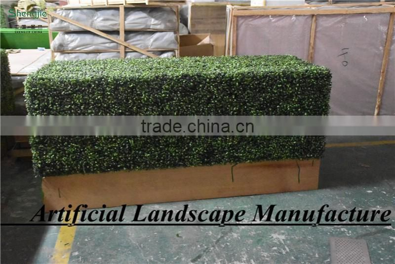 SAS016082 Plastic Material and Ornaments Type Artificial boxwood Panel