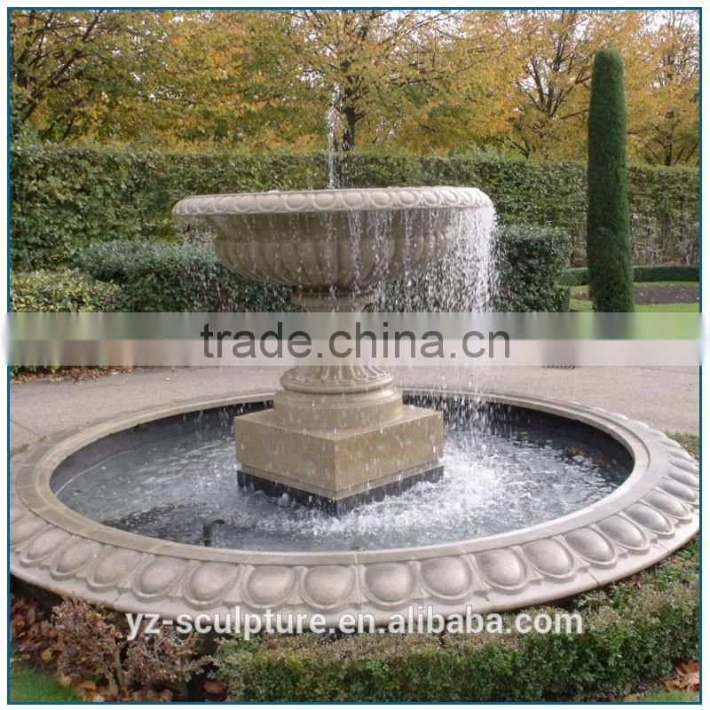 garden large stone water fountain with pool for sale
