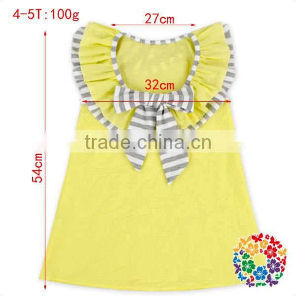 Girl Frock Design Yellow Summer Casual Dress Children Party First Communion Dresses