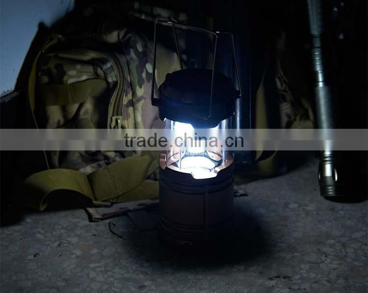 solar energy 6 led camping lantern rechargeable solar power led camping lantern