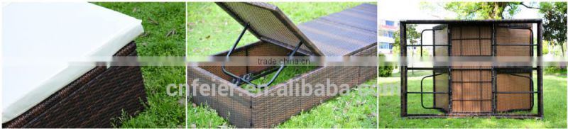 hot sell sun lounger with canopy