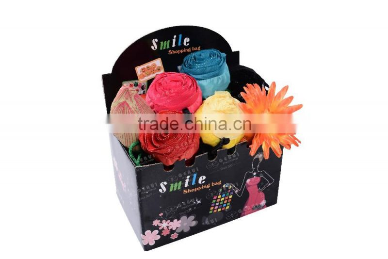 hot sell full colour printed corrugated paper shopping bags display box