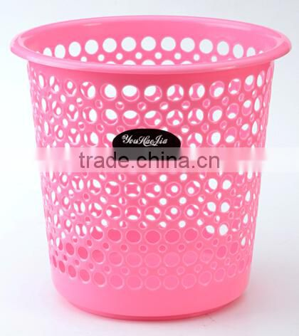 plastic outdoor trash bin