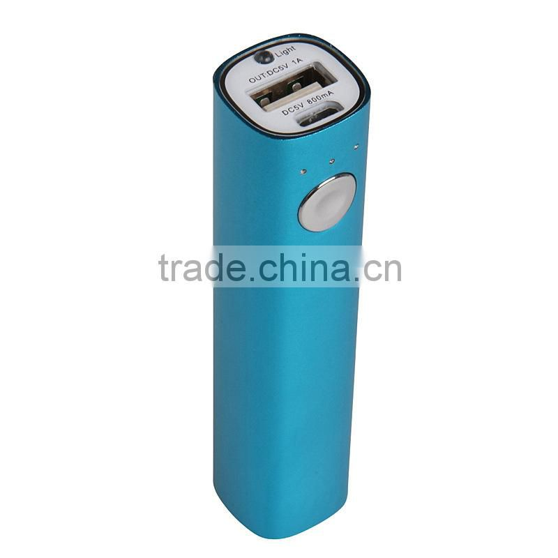 Travel Products 2015 Rohs Power Bank Battery Chargers AA with Flashlight